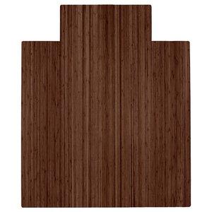 "Anji Mountain Bamboo Roll-Up Chairmat 44""x52"" with lip, 44""x52"""