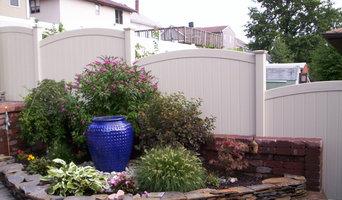 A terraced back yard