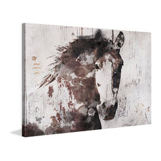 """""""Gorgeous Horse"""" Painting Print on Wrapped Canvas, 45""""x30"""""""