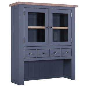Country 2-Door Hutch, Dark Grey