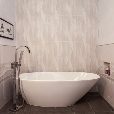 Mid-sized trendy home design photo in Denver