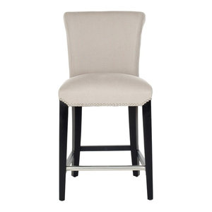 Peachy Safavieh Seth 24 Counter Stool Beige Transitional Bar Bralicious Painted Fabric Chair Ideas Braliciousco