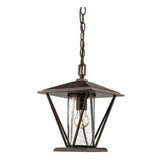 "Millennium Lighting, 2524-PBZ, 12"" 1-Light Outdoor Hanging Lantern Bronze"