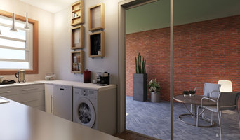 Kitchen with sliding doors onto courtyard