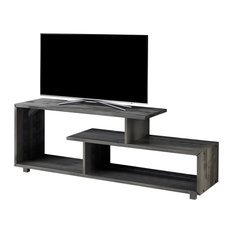"""60"""" Rustic Solid Wood TV Stand Console Entertainment Center, Gray"""