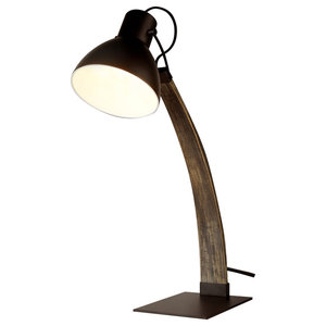 Nanna Ash Wood Table Lamp, Matte Black