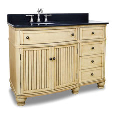Lovely Elements   Elements Compton Bath Vanity Buttercream Finish, Painted  Buttercream, 48 Inch   Bathroom