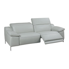 Sofia Electric Motion Loveseat, Adjustable Neck Rest Cushions, Light Gray