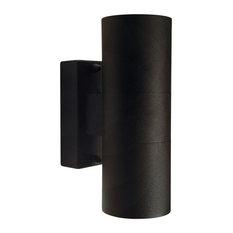 Tin Outdoor Wall Light, Black Aluminium