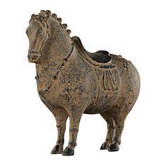 Emperor Xuanzong's Fat Horse Asian Statue