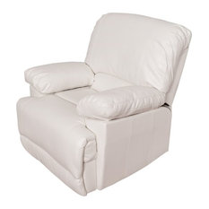 Atlin Designs Leather Reclining Chair in White