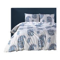 Paisley Park Blue Cotton Percale Printed Duvet Cover Set, King