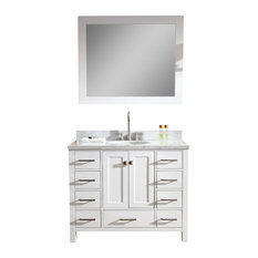 "Atlas International, Inc. - Ariel Cambridge 43"" Single Sink Bathroom Vanity Set, White - Bathroom Vanities and Sink Consoles"