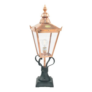 Chelsea Grande Copper Pedestal Lantern