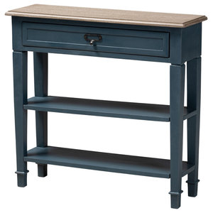Durable French Provincial Blue Spruce Finished Wood Accent