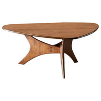INK+IVY Blaze Triangle Wood Coffee Table, Brown