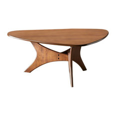 INK+IVY Blaze Triangle Wood Coffee Table Brown