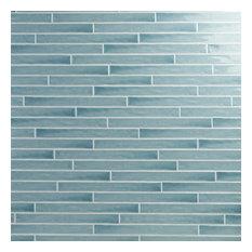 "Nantucket 2"" x 20"" Polished Ceramic Wall Tile, Blue"