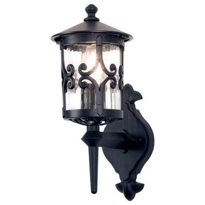 Traditional Small Rigid Tube Outdoor Wall Up Lantern