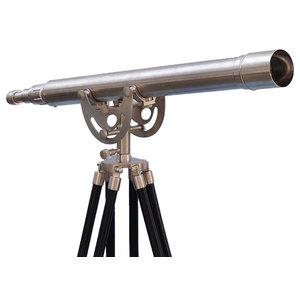 Floor Standing Brushed Nickel Anchormaster Telescope 50'', Hand Telescope