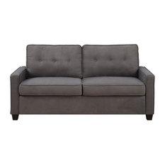 R2H   Tufted Back Sofa, Vernon Slate   Sofas