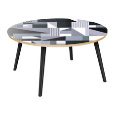 Stella Flare Coffee Table - Grayscale Patchwork