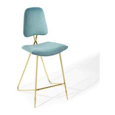 Modern Bar Stool Gold Frame With Velvet Seat Unique And Elegant Design Sea Bl
