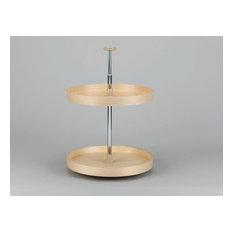 "Rev-A-Shelf LD-4BW-062-20-1 Lazy Daisy Banded Wood 20"" Diameter Full Circle Two"