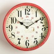 Modern Daphne Kitchen Clock: Red Metal