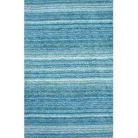 Hand-Tufted Striped Shaggy Plush Shag Rug, Sky Blue, 5'x8'