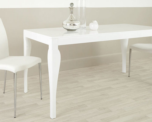 Eva 6 Seater White Gloss Dining Table   Dining Tables