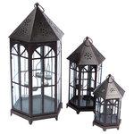Melrose - Tea Light lanterns, 3-Piece Set - Beautiful lantern set perfect for the holidays