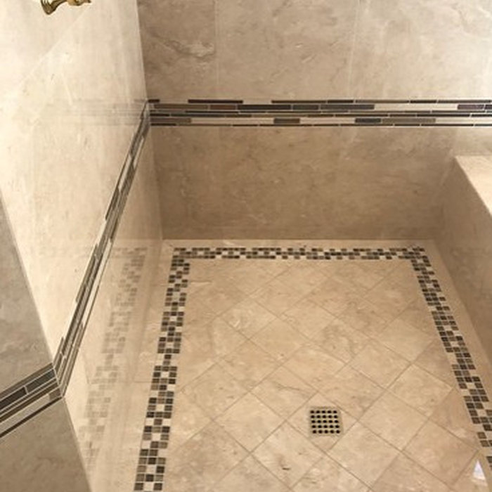San Juan Capistrano Custom Marble Shower