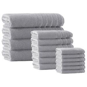 Veta 16-Piece Towel Set, Silver
