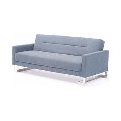 Serena Fabric Sofa Bed, Light Blue. Contemporary Sleeper Sofas