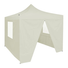 Foldable Tent with 4 Walls, Cream, 3x3 m