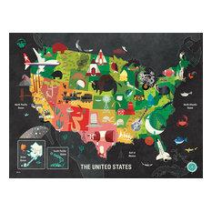 """The United States,"" Canvas Wall Art by Daviz, 40""x30"""