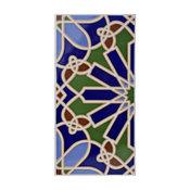 "SomerTile 5.5""x11"" Artesanal Blanco Ceramic Wall Tile, Alhambra"