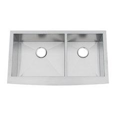 Chef Pro Zero-Radius 16 Gauge Double Bowl Apron Front Sink