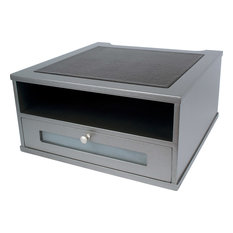Victor Technology, LLC - Monitor Riser, Silver - Bed Accessories