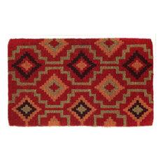 "Fab Habitat Handwoven Extra Thick Durable Lhasa Kilim Coir Doormat 24""x36"""