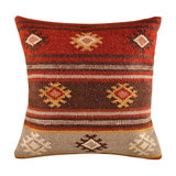 Red Tribal Wool Kilim Cushion, Small, Cover Only