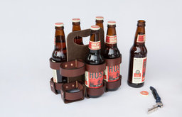 Reusable Beer/Soda Carton, Six-Pack by Walnut