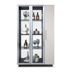 bellini modern living vera curio cabinet china cabinets and hutches