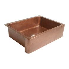 """Courbet 30"""" Farmhouse Copper Kitchen Sink, Antique Copper"""