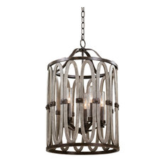 "Belmont 19x30"" 5-Light Contemporary Large Pendants by Kalco"