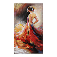 """Flamenco"" Mixed Media Iron Hand Painted Dimensional Wall Art"