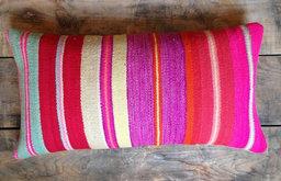 Pink Stripe Frazada Cushion
