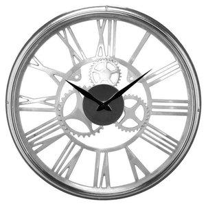 EMDE Glass and Chrome Wall Clock