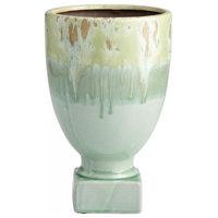 "Cyan Design Bella Delta 11.25"" Planter in Green Glaze"